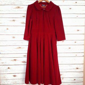 Hearts & Roses Glamorous Red Velvet Tea Dress